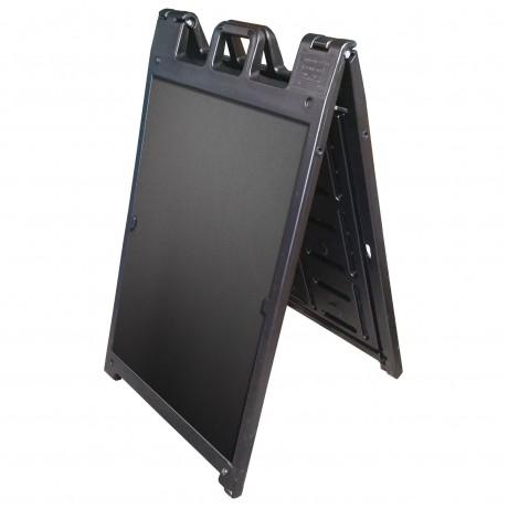 "25"" x 45"" Black Poly Plastic A-Frame - Chalkboard Black Panels"