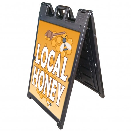 "25"" x 45"" Black Poly Plastic A-Frame - Custom Color Posters"