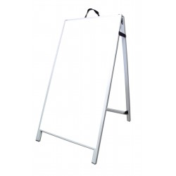 "48"" PVC A-Frame Sign - Corex White Panels"