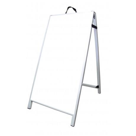 """48"""" PVC A-Frame Sign - Corex White Panels"""