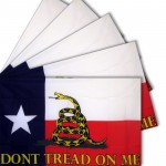 Don't Tread On Me Texas 3' x 5' Polyester Flag - 5 Pack