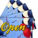 FIVE - Open Balloons 3'x 5' Polyester Advertising Flag