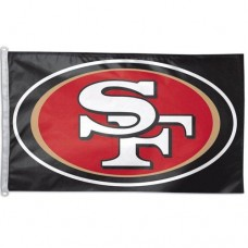 SAN FRANCISCO 49ERS BLACK  3' x 5' Polyester Flag