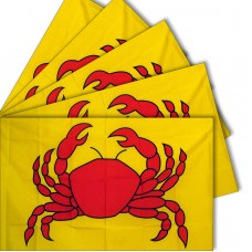 Five - Red Crab 3'x 5' Polyester Advertising Flag