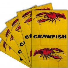 Crawfish Vertical 3' x 5' Polyester Flag - 5 pack