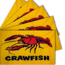 Crawfish 3' x 5' Polyester Flag - 5 pack