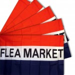 Flea Market 3' x 5' Polyester Flag - 5 pack