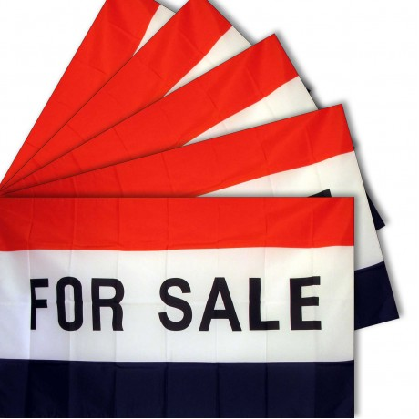 For Sale 3' x 5' Polyester Flag - 5 Pack