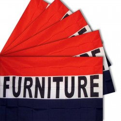 Five - Furniture 3'x 5' Polyester Business Flag