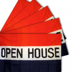 Open House 3' x 5' Polyester Flag - 5 Pack