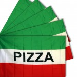 Five - Pizza Green 3'x 5' Polyester Business Flag