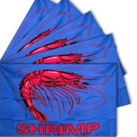 Shrimp Blue 3' x 5' Polyester Flag - 5 Pack