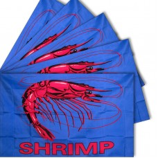 Five - Shrimp Blue 3'x 5' Polyester Advertising Flag