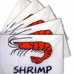 Shrimp White 3' x 5' Polyester Flag - 5 Pack