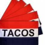 Five - Tacos 3'x 5' Polyester Business Flag