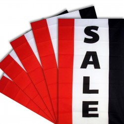 Five - Sale Vertical 3'x 5' Polyester Business Flag