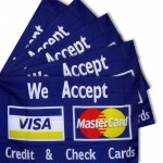 We Accept Visa & Mastercard 3' x 5' Polyester Flag - 5 Pack