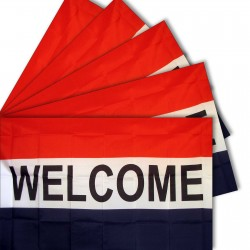 Five - Welcome 3'x 5' Business Polyester Flag