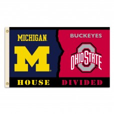Michigan Wolverines-Ohio State House Divided 3'x 5' Flag