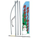 Happy Holidays Snowman Swooper Flag Bundle