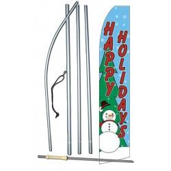 Happy Holidays Snowman Swooper Flag Bundle