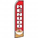 Menudo Red Swooper Flag