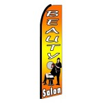 Beauty Salon Orange Extra Wide Swooper Flag