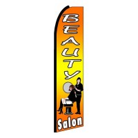 Beauty Salon Yellow Extra Wide Swooper Flag