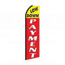Low Down Payment Extra Wide Swooper Flag