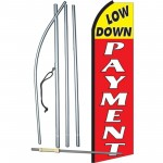 Low Down Payment Extra Wide Swooper Flag Bundle