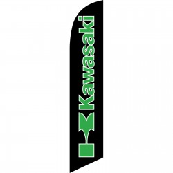 Kawasaki Black Windless Swooper Flag