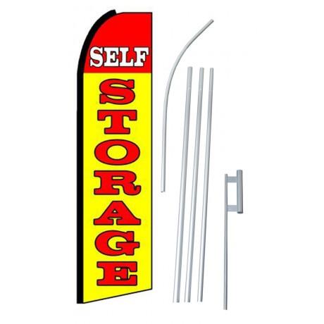 Self Storage Yellow Extra Wide Swooper Flag Bundle
