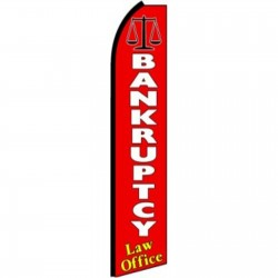 Bankruptcy Extra Wide Swooper Flag
