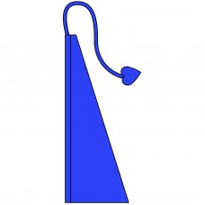 New 13' Windtail Attention Flags Cobalt Blue