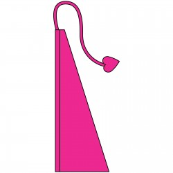 New 13' Windtail Attention Flags Hot Pink