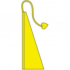 New 13' Windtail Attention Flags Sunny Yellow
