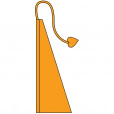 New 13' Windtail Attention Flags Marigold Orange