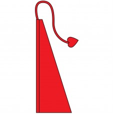 New 13' Windtail Attention Flags Cherry Red