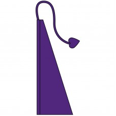 New 13' Windtail Attention Flags Plum Purple