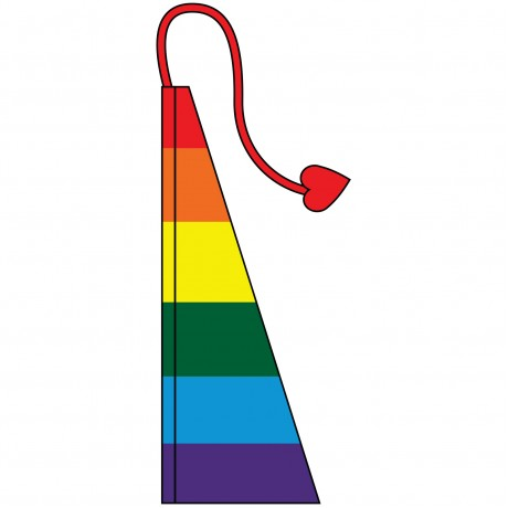 New 13' Windtail Attention Flags Rainbow