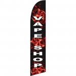 Vape Shop Black Flames Windless Swooper Flag