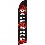 Vape Shop Black Flames Windless Swooper Flag