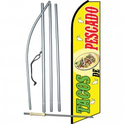 Tacos De Pescado Swooper Flag Bundle