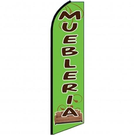Muebleria Green Swooper Flag