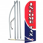 Income Tax Shooting Star Extra Wide Swooper Flag Bundle