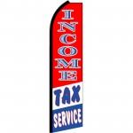 Income Tax Service Patriotic Stripes Swooper Flag