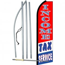 Income Tax Service Patriotic Stripes Swooper Flag Bundle