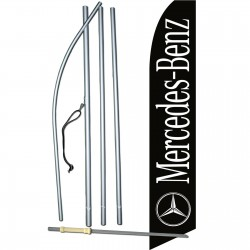 Mercedes-Benz Black Swooper Flag Bundle