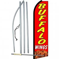 Buffalo Wings Red Swooper Flag Bundle