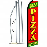 Best Pizza In Town Swooper Flag Bundle